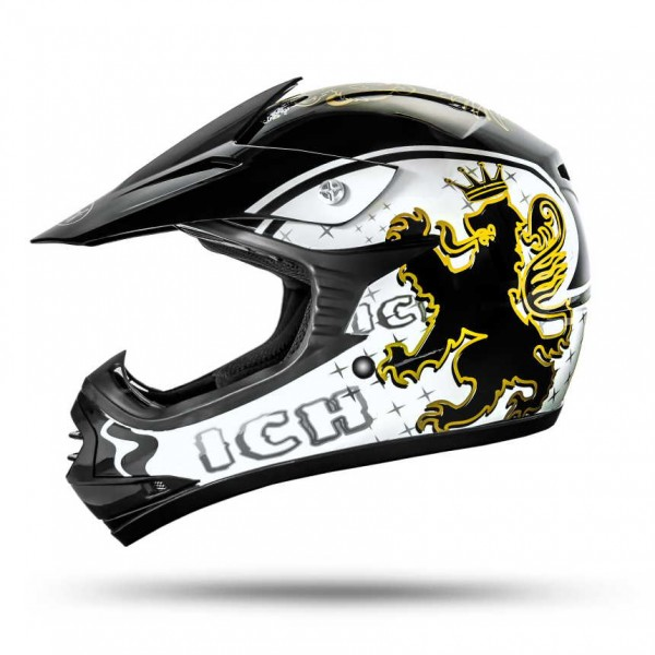 Skulletti Boys and Girls Kinder Enduro Helm Black ECE 2205