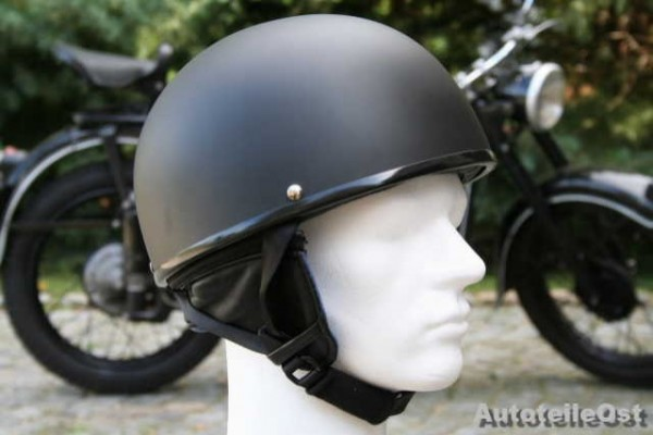 Oldtimer Helm in Schwarz matt